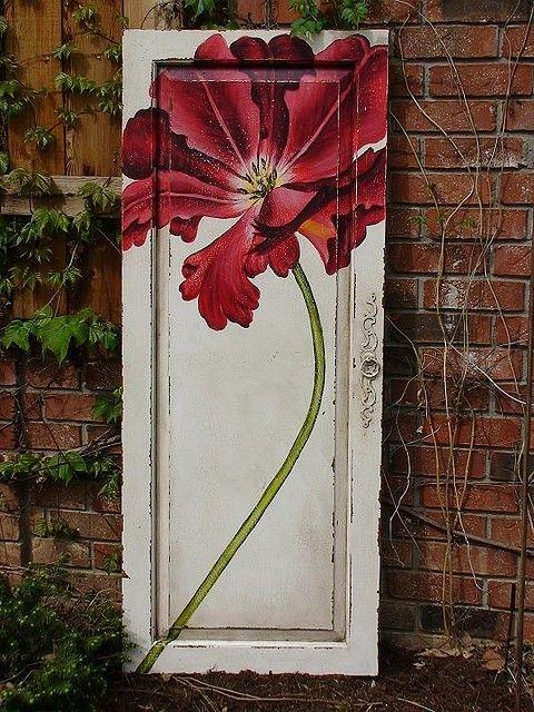 WICKED FAERIE QUEEN Love this door redo so beautiful.   Puertas ...