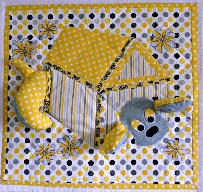 Quilted Wall Hanging, 3D Art Quilt, Fabric Art, Textile Art, Fibre ...