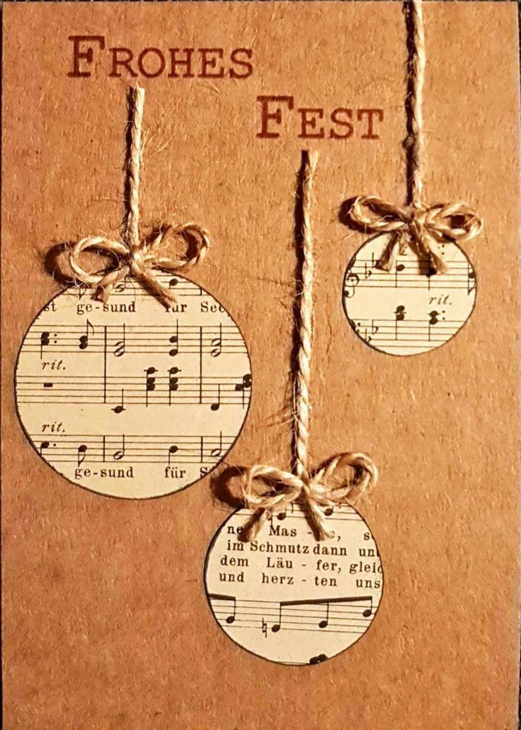 Karte zu Weihnachten #weihnachtsgeschenkebasteln