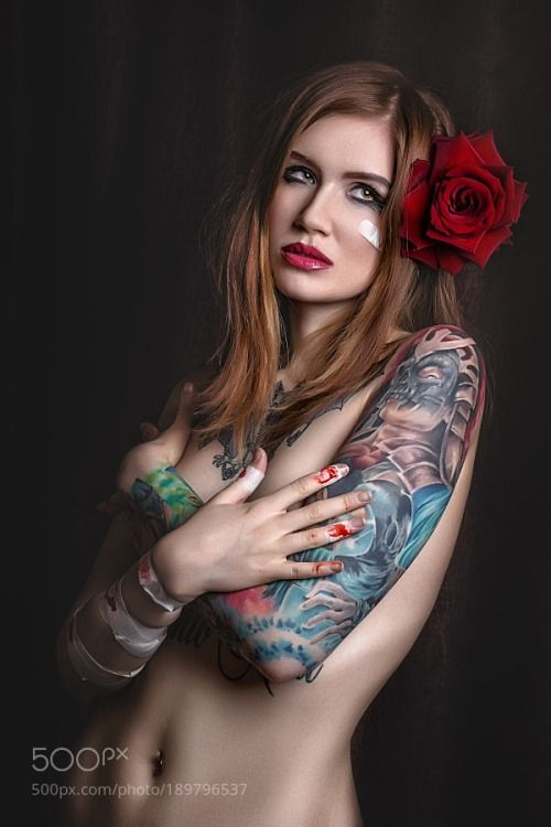 Erotic tattoo nude