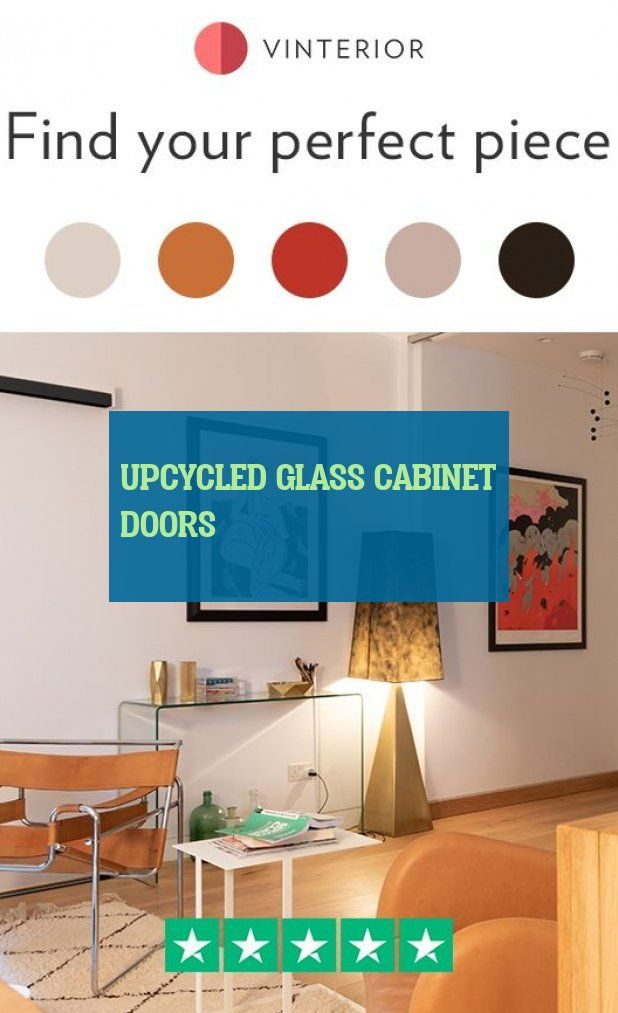 upcycled glass cabinet doors