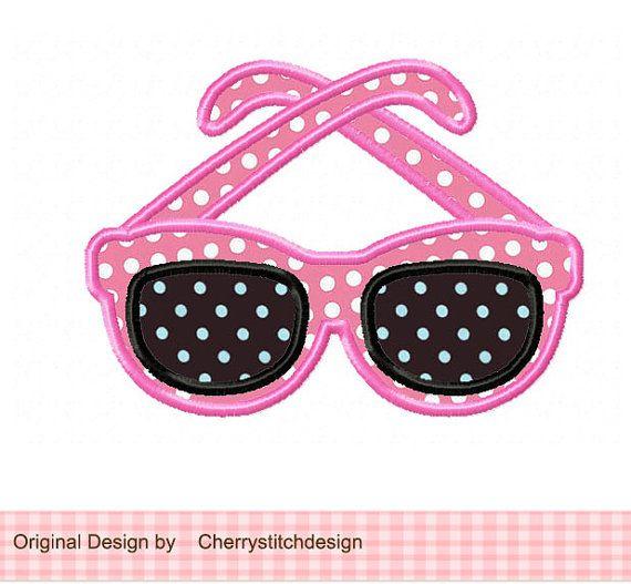 Diseño de moda gafas Applique 4 x 4 5 x 7 6 por CherryStitchDesign