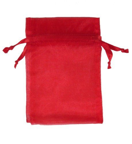 Red 4x6 Organza Favor Bags 30 Count by dsb