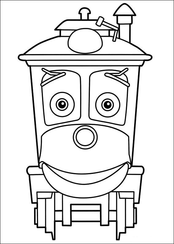 Coloriage dessins chuggington 7 bilder zum ausmalen pinterest coloriage coloriage dessin - Train dessin anime chuggington ...