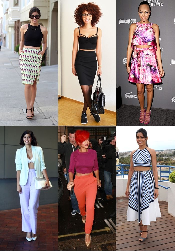 How To Wear Spring 2013 Crop Top Trend | The Fashionista Next Door