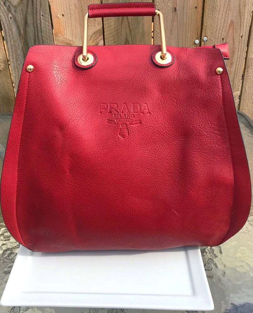 202b30ebe9 ... discount code for prada milano red handbag leather purse 782a0 39bae