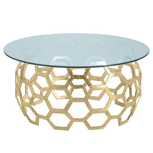 Arteriors Home Dolma Gold Leaf Cocktail Table On Sale With Images