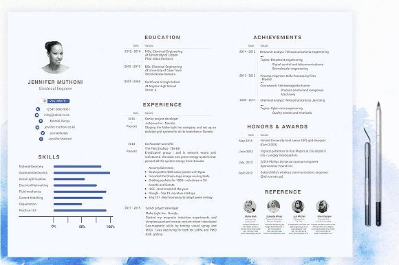 Landscape Resume Cv  Cover Letter By Amisicaves On
