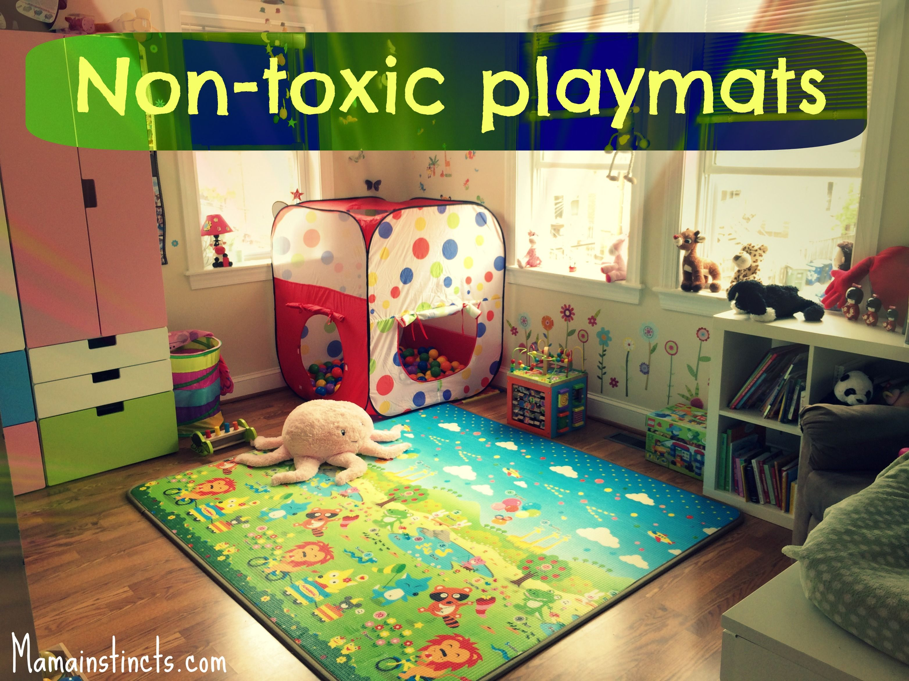 pom circle activity for handmade mat of floor llama play padded watercolor garden image purple babies mats baby cactus products copy round