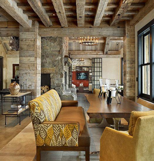 rustic grand victorian living room design | Rustic INTERIOR Design, Pictures, Remodel, Decor and Ideas ...