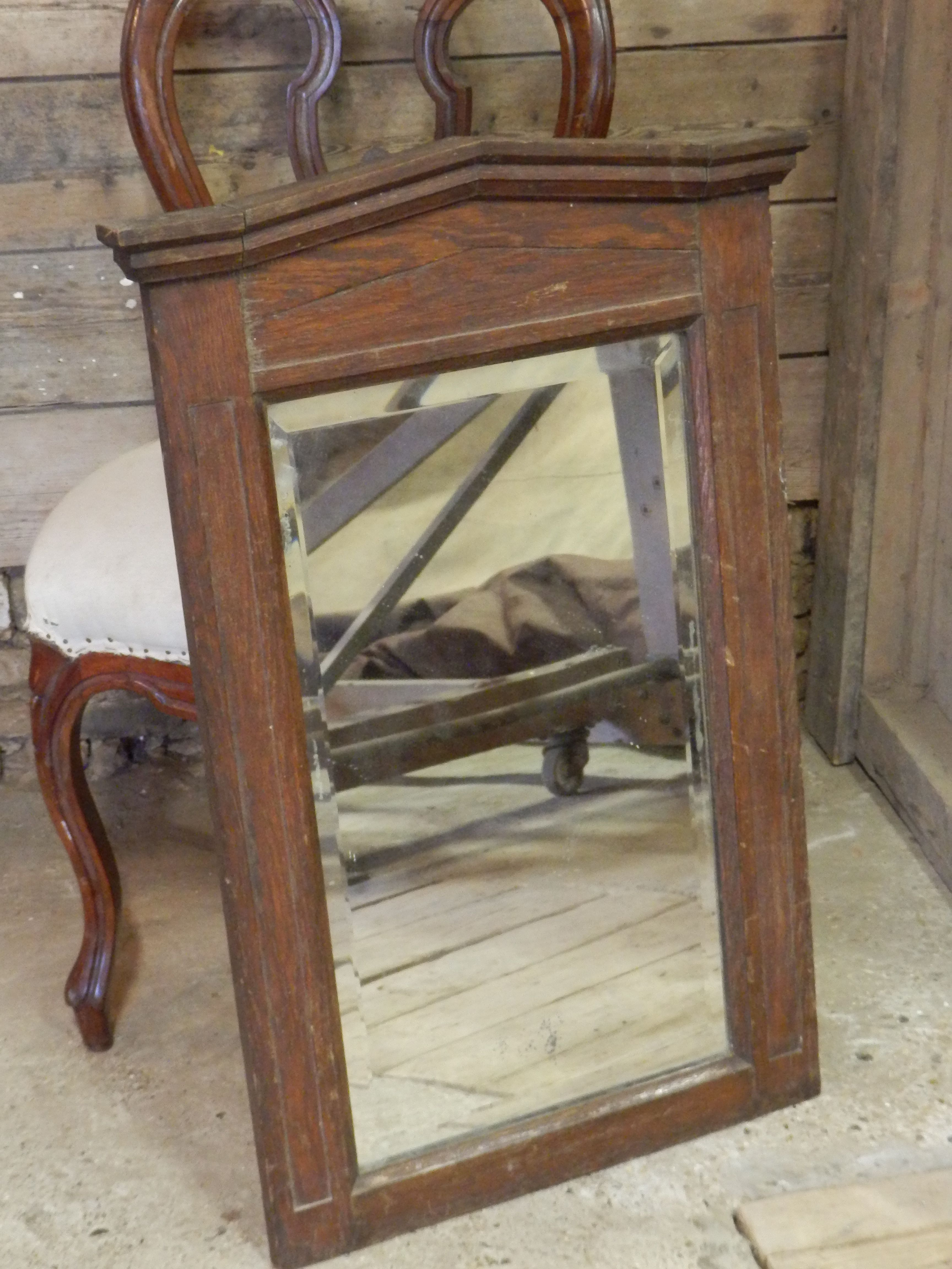 Mooie Grote Houten Spiegel.Verkocht Mooie Grote Houten Spiegel Geslepen Rand In Het