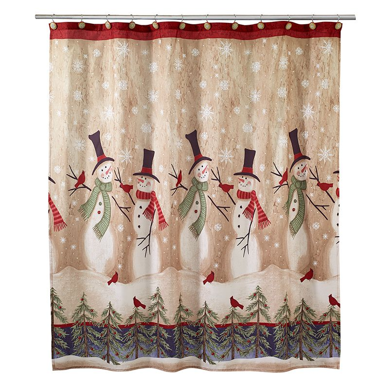 Overstock Com Online Shopping Bedding Furniture Electronics Jewelry Clothing More Christmas Shower Curtains Snowman Shower Curtain Christmas Bathroom