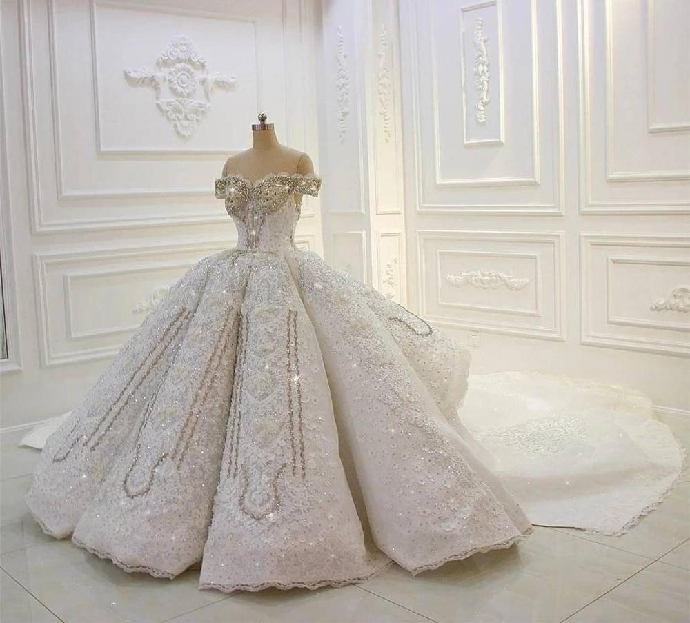 Handcrafted Luxury Sparkle Crystals Custom Made Emila Ball Gown Wedding Dress Ball Gowns Lace Ball Gowns Gown Wedding Dress