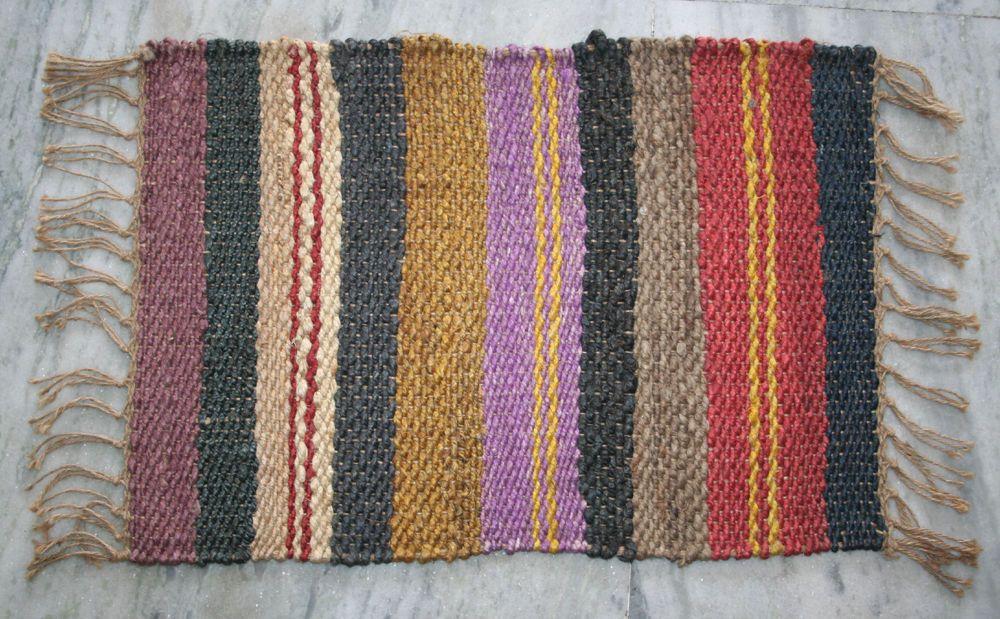 Hand made turkish oriental area rugs jute door mate rug tribal door mat edh(usa) & Hand made turkish oriental area rugs jute door mate rug tribal door ...