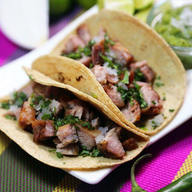 Recetas Comidas Con Bistec De Puerco Tacos De Bistec Adobado Receta Comida Receta De Carnitas Y