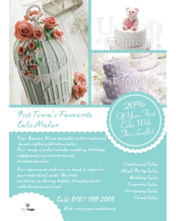 Bakery A6 Leaflets Flyers Pinterest Flyer layout, Template - wedding flyer