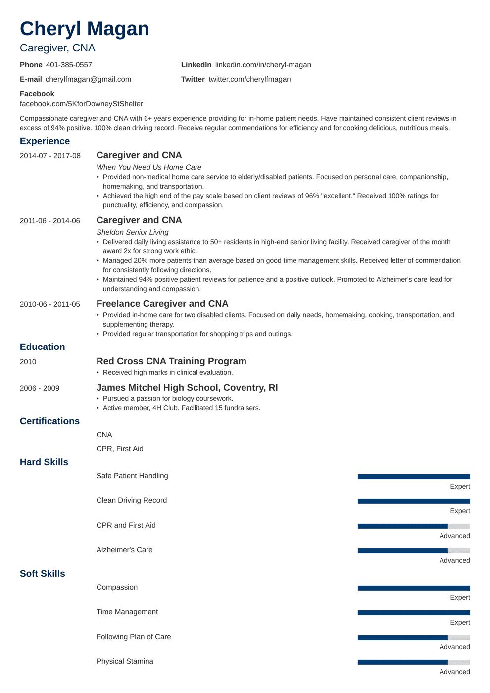Caregiver Resume Template Minimo Medical Assistant Resume Resume Examples Job Resume Examples