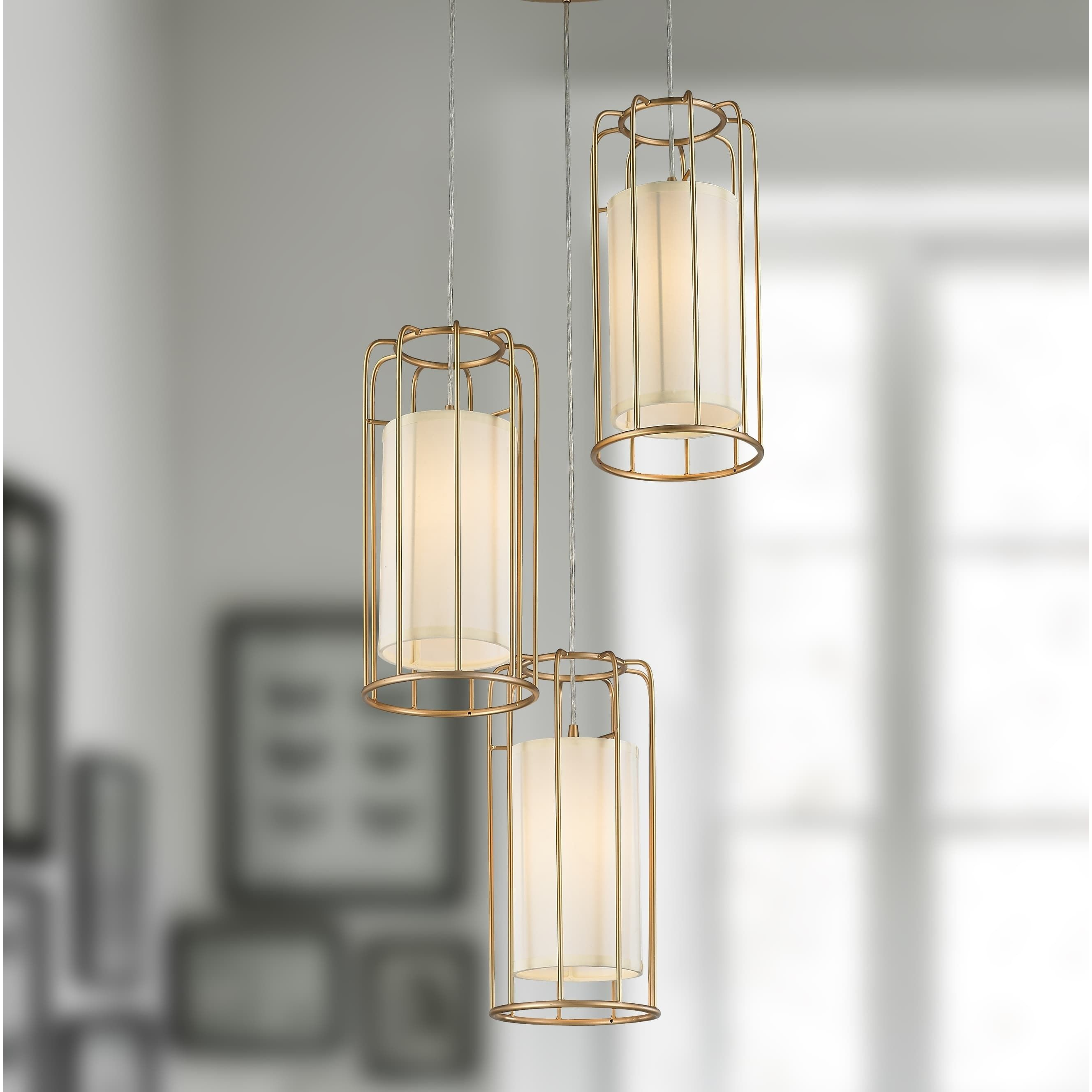Brilliance Lighting And Chandeliers Cage Collection 3 Light