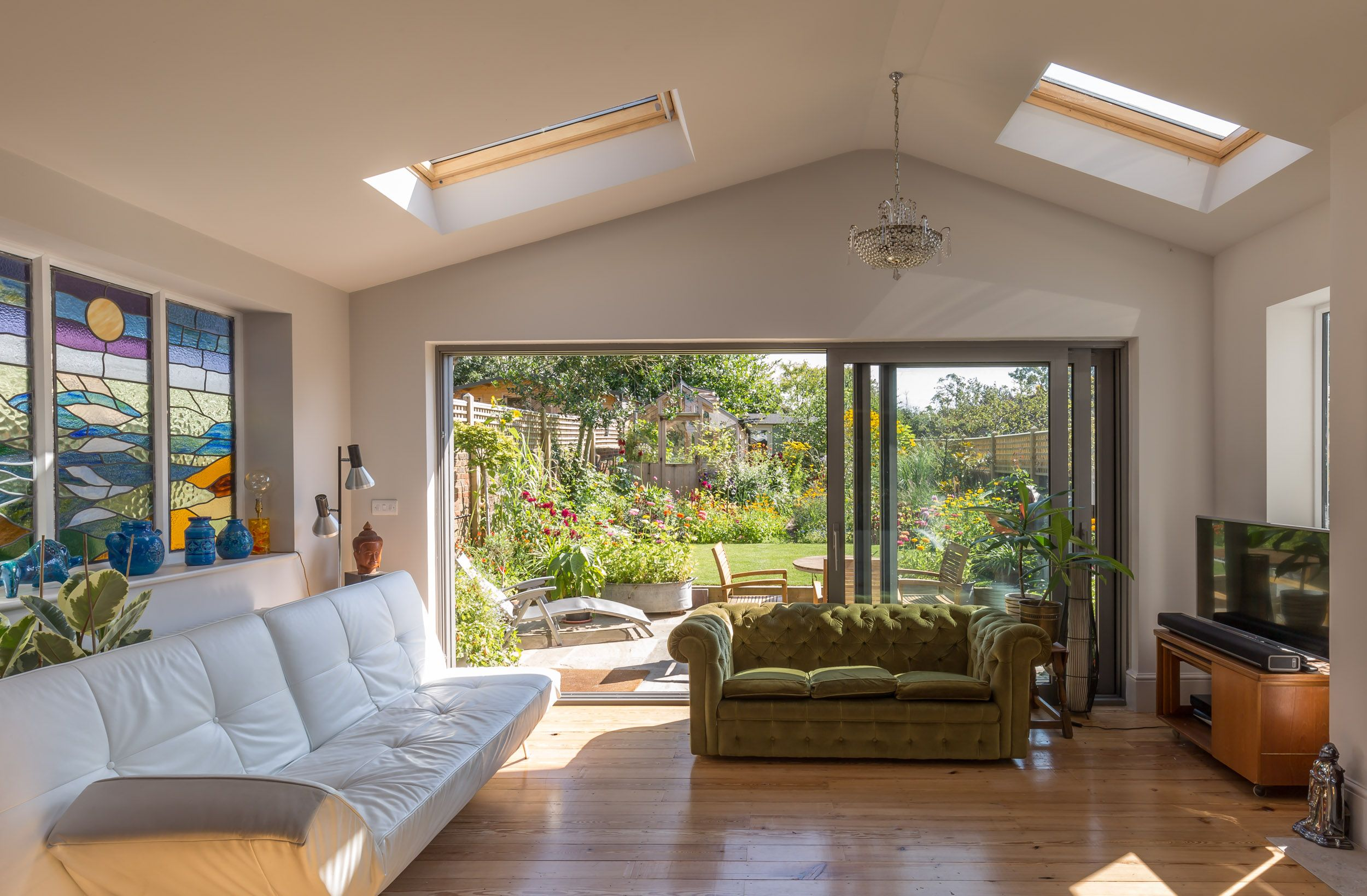 Pitched Roof Rear Extension Vaulted Ceiling Velux