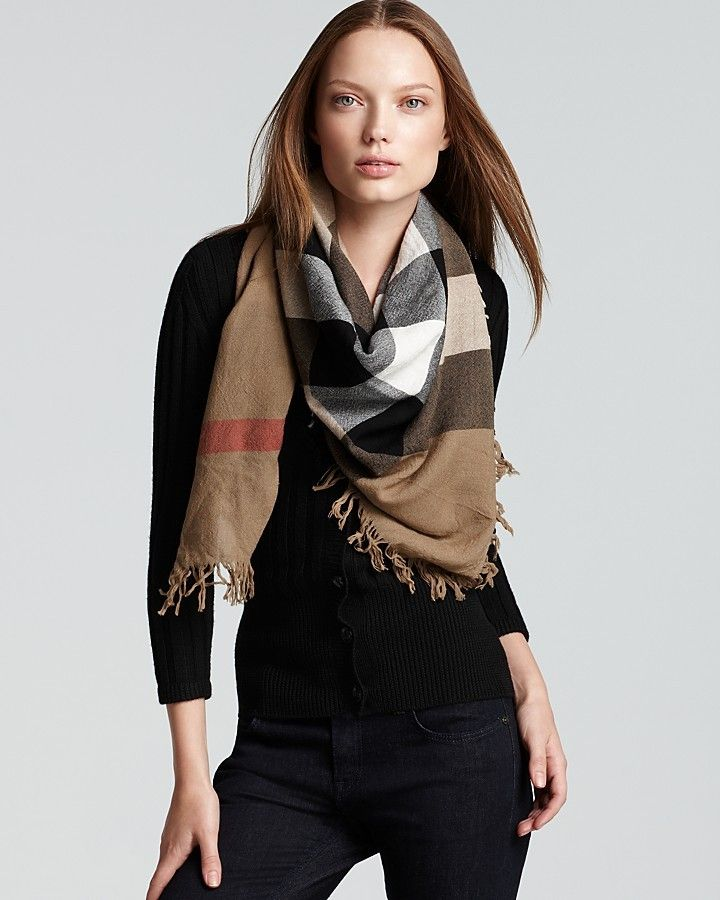 Burberry Color Check Wool Scarf   My style Autumn   Winter ... e07d07f8aa6