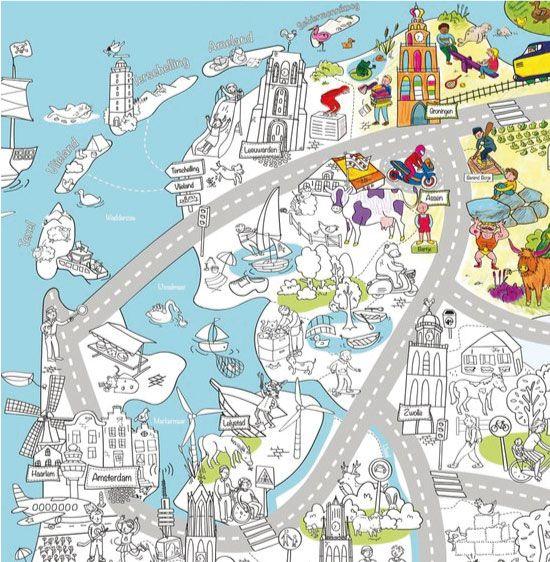 Landen Wereld Kleurplaat Van Nederland Maak Een