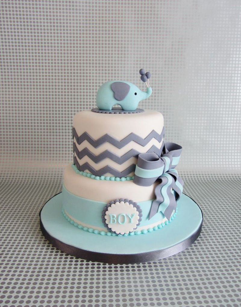 Beautiful Cake For Shower. Navy Instead And A Whale Instead