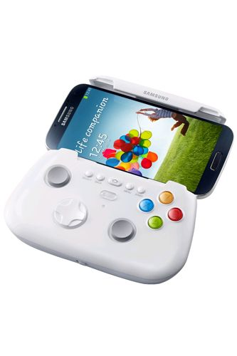 Samsung Game Pad To help us beat the boss and rescue princesses with ease is the Samsung Game Pad for the Samsung Galaxy S4. The handheld controller lets you take action with a multitude of buttons for a clear advantage over your finger-swiping competitors.  Samsung Game Pad, $109, available at Expansys.