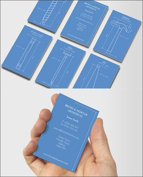 Architect Construction Business Cards