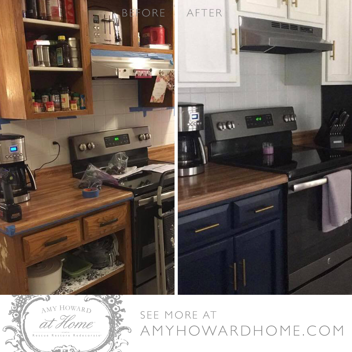 Check Out This Customer S Kitchen Makeover She Prepped All Surfaces With Amy Howard At Home Clean Slate Then She P Diy Cabinets Cabinetry Kitchen Makeover