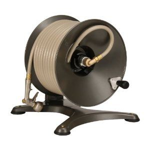 $154.39. Heavy Duty Swivel. Stable No Tip Base With Rubber Feet For Extra  Protection. Camlever Brake. This Sturdy Aluminum Garden Hose Reel ...