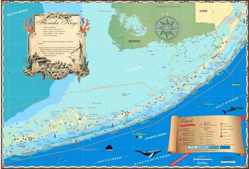 Florida Maps Florida Keys Island Map Store Caribbean Bahamas