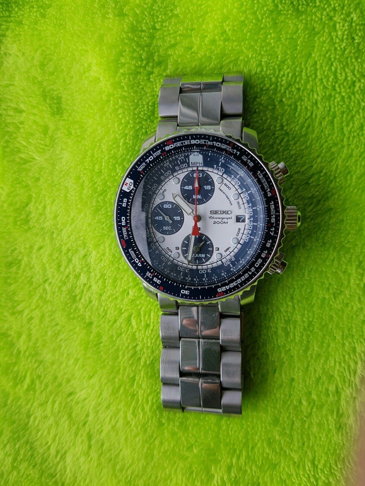 53fdae2207e Seiko flightmaster Sna 413 411 Authentic Watches
