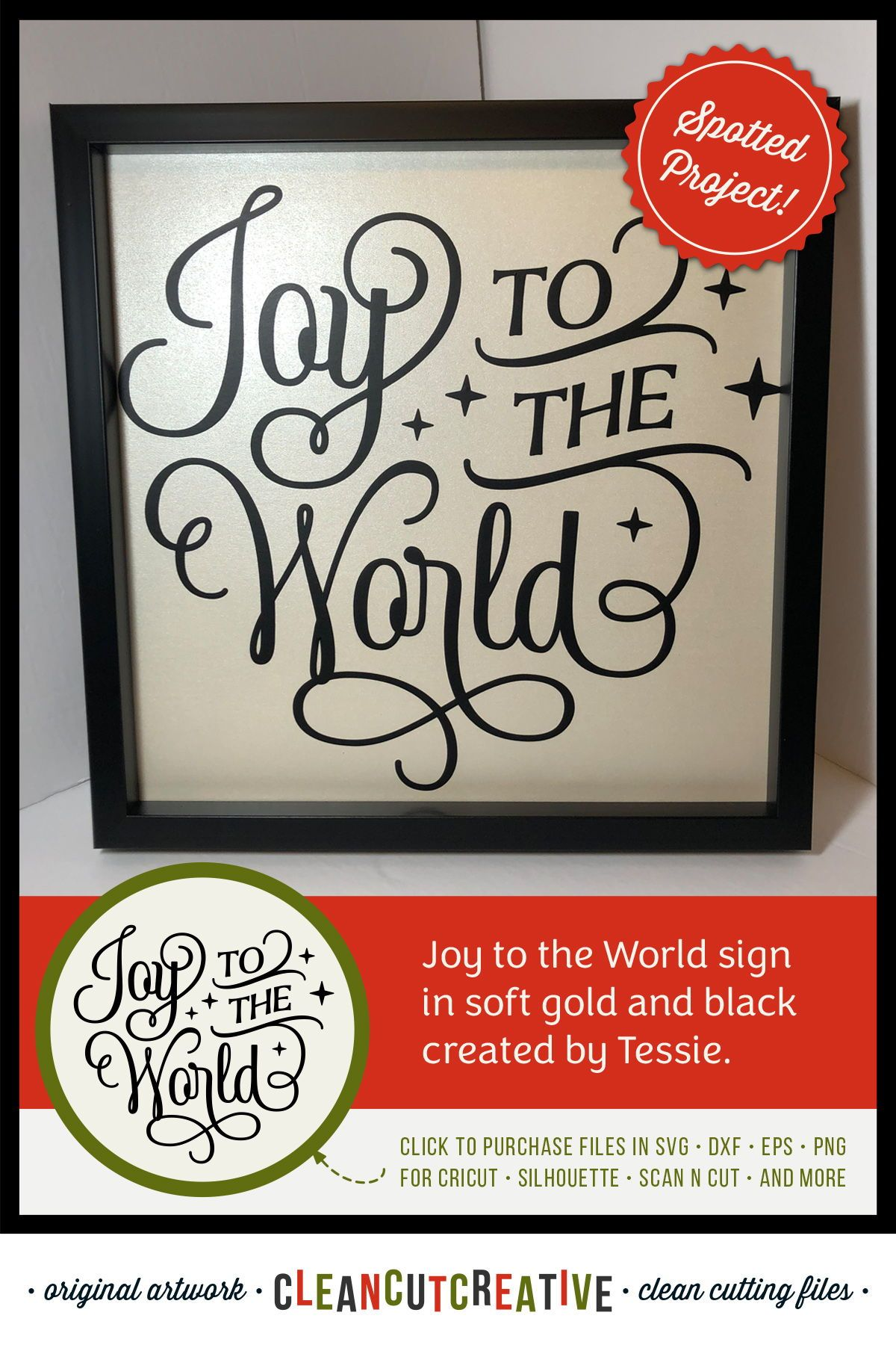 Joy to the World elegant Christmas SVG design for