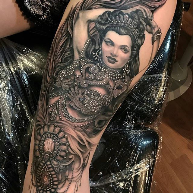 By Artist Ryanashleymalarkey To Book An Appointment Email Ryanashleytattoo Gmail Com Bnginksoci Ryan Ashley Vintage Tattoo Sleeve Ryan Ashley Malarkey