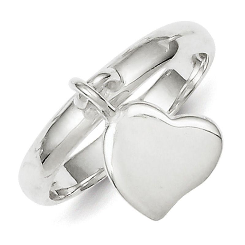 Sterling Silver Dangle Heart Ring SKU: QGQR1526 $25.99