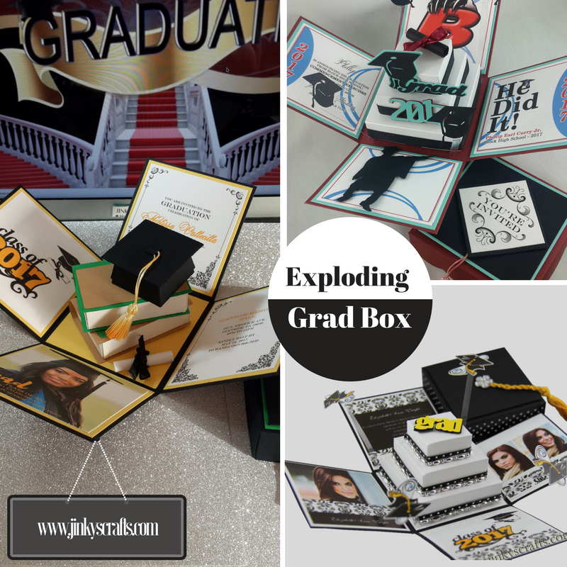 Unique Graduation Announcement Exploding Box Invitations With 3d Books Gifts InvitationsGraduation Cake Souvenir