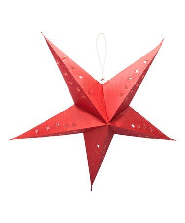 Another great find on #zulily! Crimson Shimmer 22'' Star Recycled Cotton Lantern #zulilyfinds