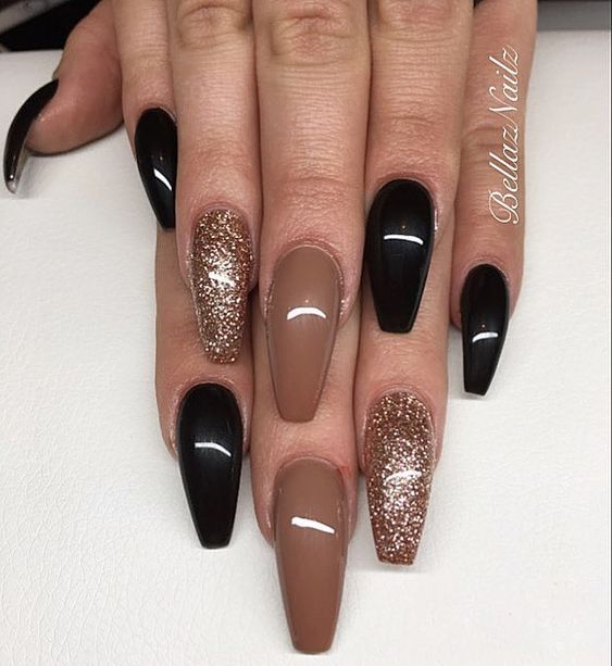 77 Trendy Brown Nail Art Designs And Ideas Brown Nails Design Brown Nail Art Ballerina Nails