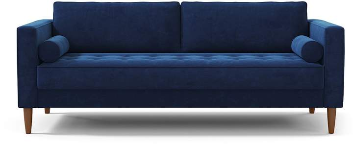 Best Delilah Sofa Leg Finish Pecan Wayfair Living Room 400 x 300