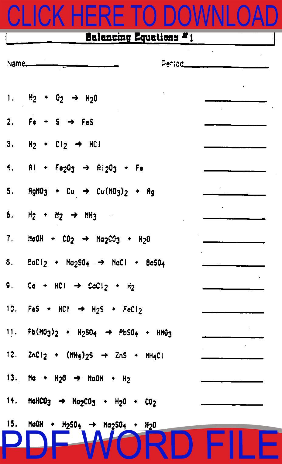 Balancing Equations Worksheet How To Get Abs Equations Balancing Equations [ 1526 x 928 Pixel ]