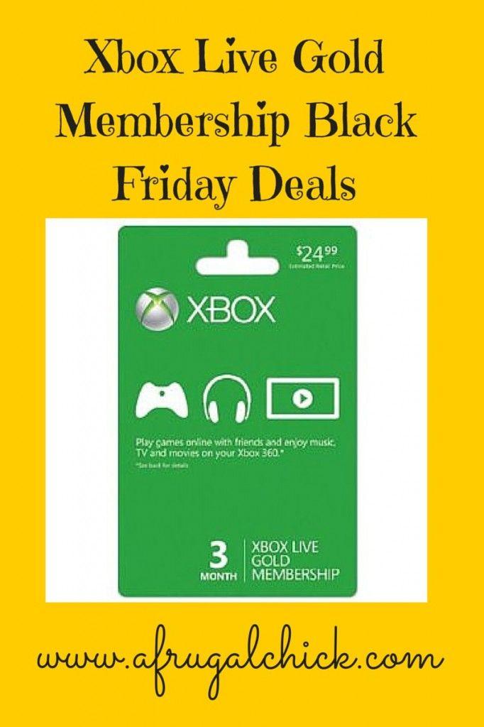 Xbox Live Membership Black Friday Sale Xbox Live Xbox One Live Xbox