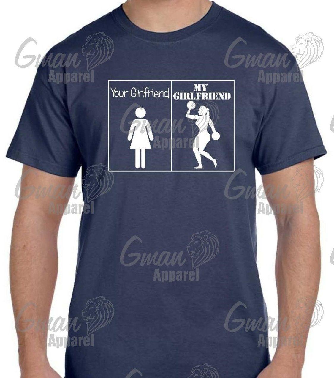 Funny gym tshirt your girlfriend vs my girlfriend size s