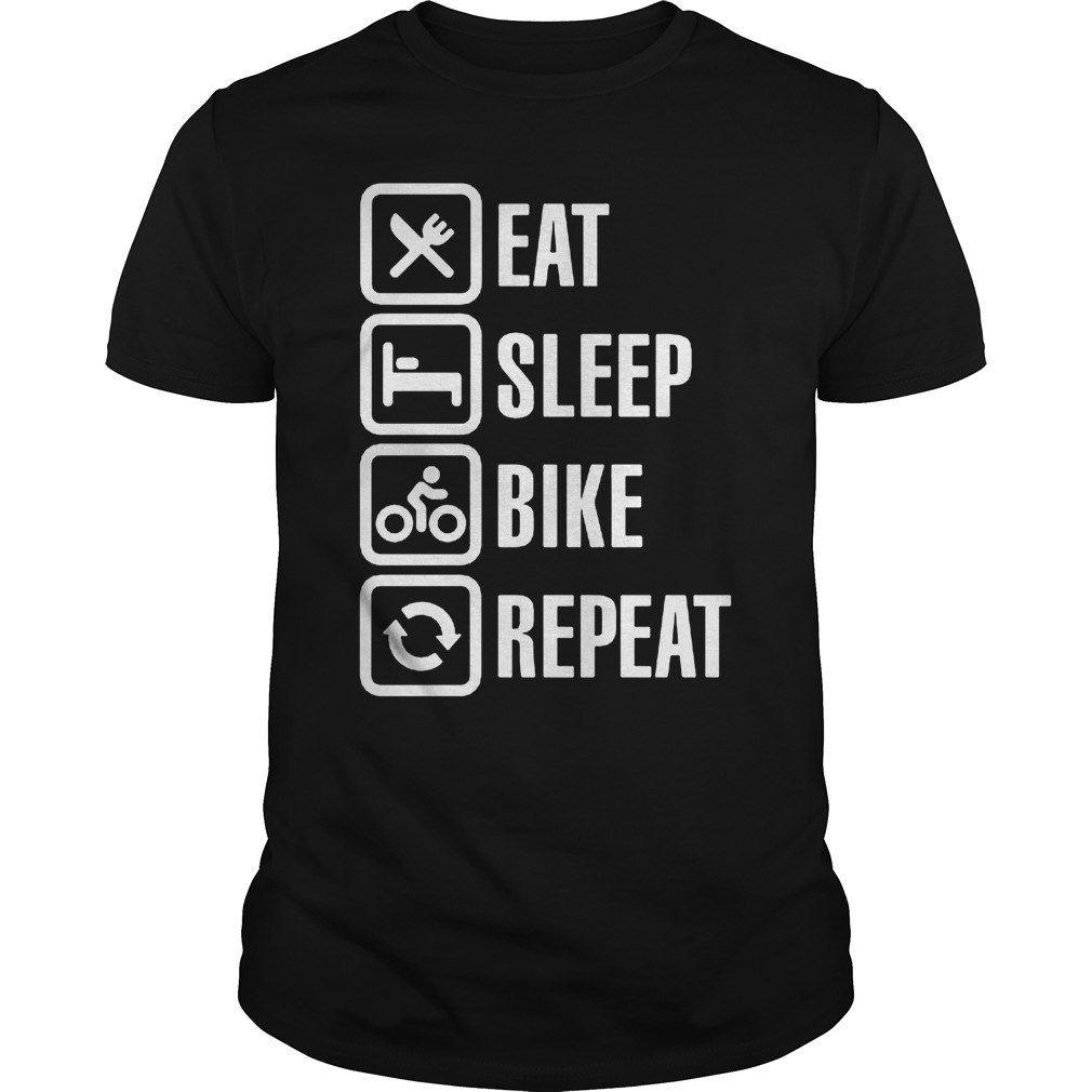 bff16b1c Bicycle Eat sleep bike repeat Tshirt cycling shirt   Bicycling ...