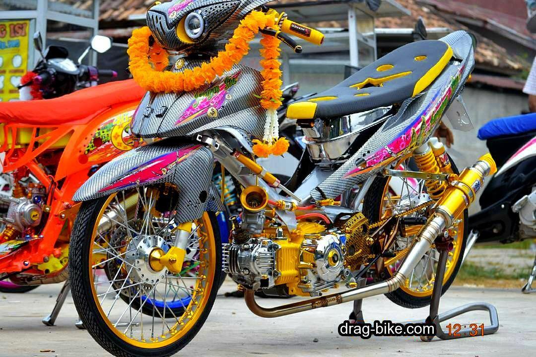 74 Gambar Modifikasi Motor Drag Bike Terkeren Dinda Modifikasi