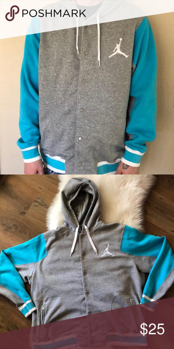 7b243708f9d4fd Jordan Button Up Sweatshirt Baby Blue