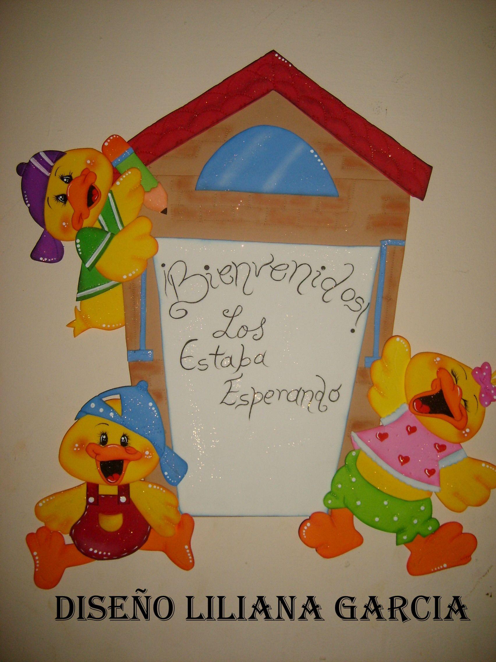 Tarjeta en goma eva infantil patos imagui - Decoracion goma eva infantil ...