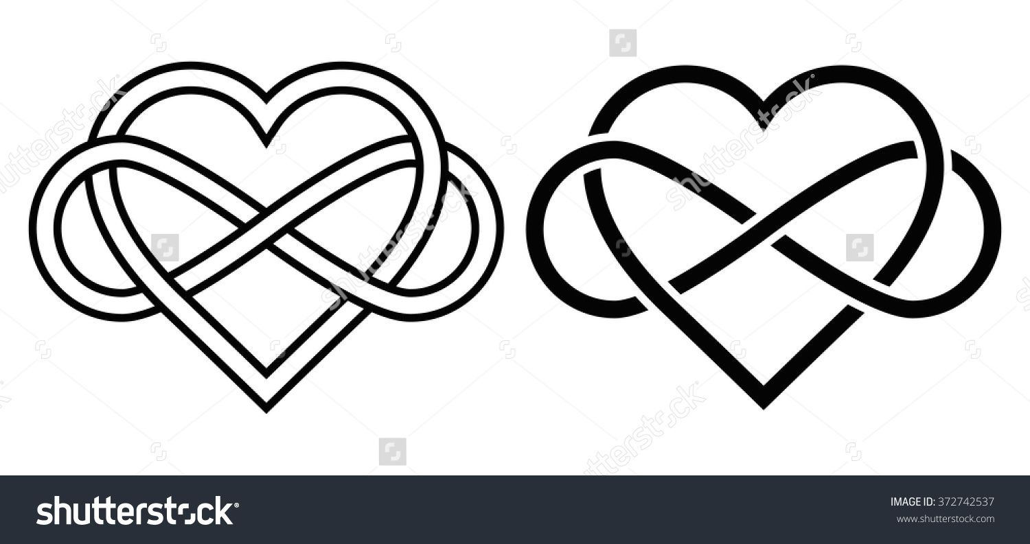 Rsultat de recherche dimages pour heart infinity coeur intertwined heart with the sign of infinity love forever buy this stock vector on shutterstock find other images biocorpaavc Images