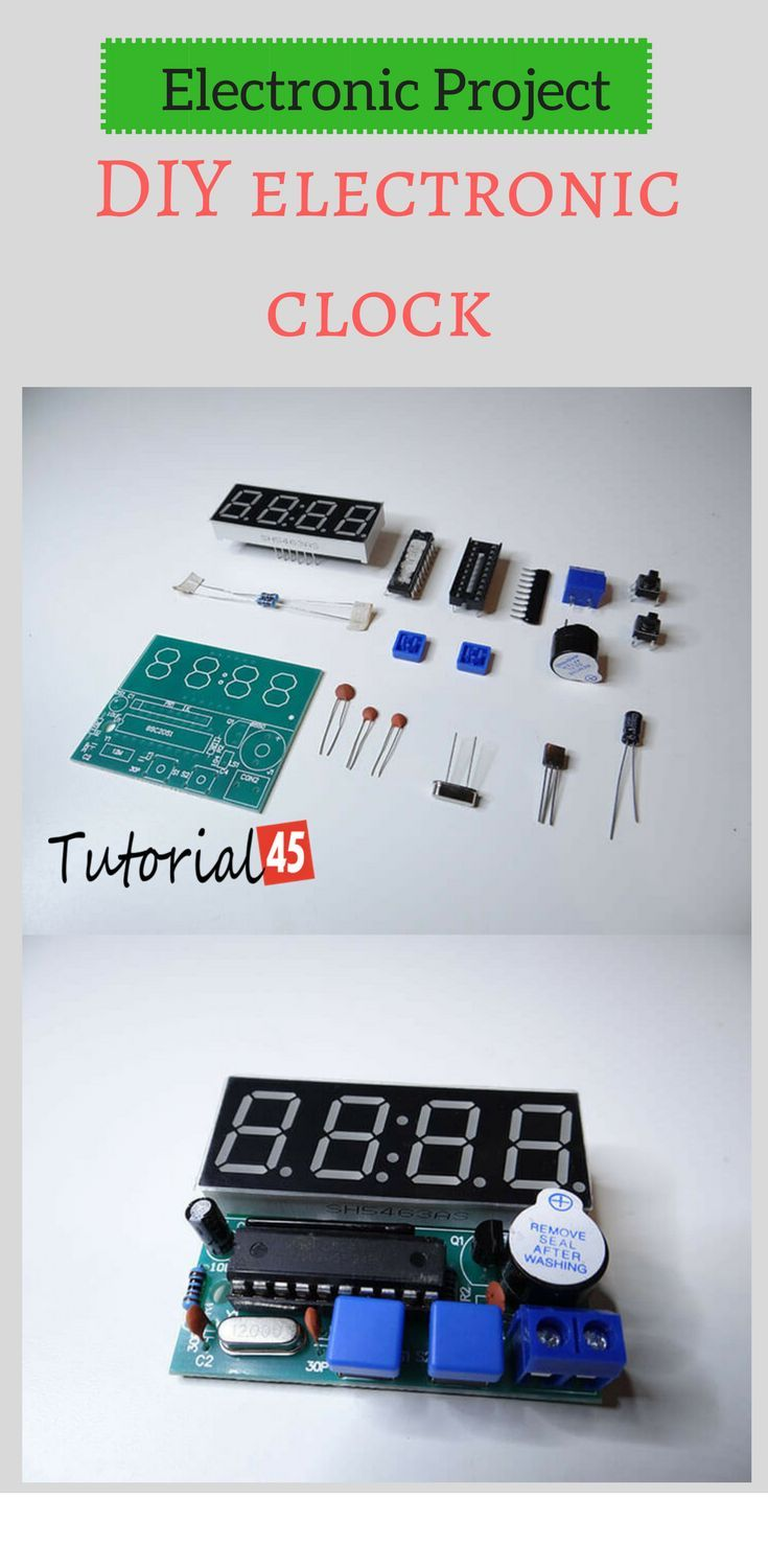 Electronic project: DIY electronic clock | technologyand electric ...