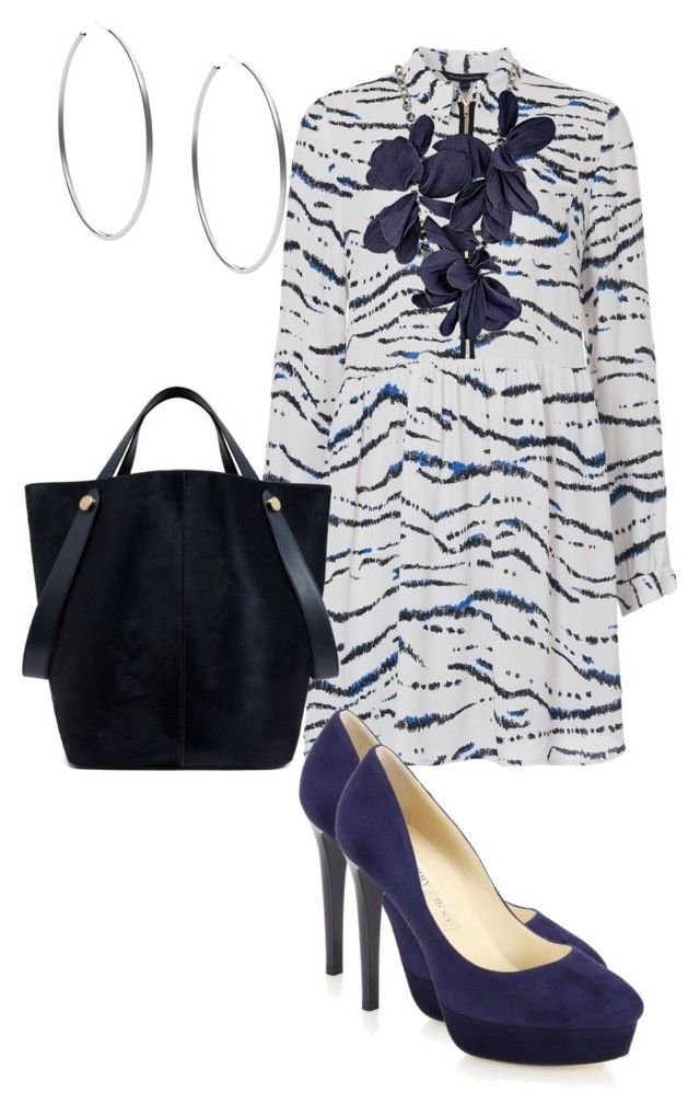 """""""Whimsical"""" by dolenka ❤ liked on Polyvore featuring French Connection, Jimmy Choo, Mulberry, Lanvin and Michael Kors"""