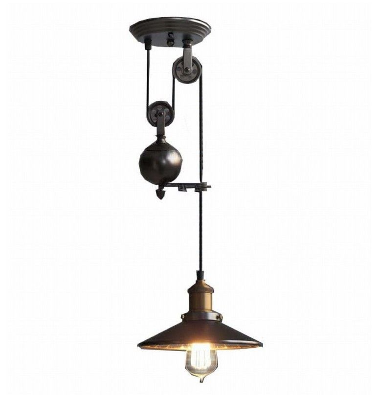 pulley pendant lighting. Up And Down Adjustable Edison Retro Industrial Countryside Pulley Pendant Lamp Light Lighting O